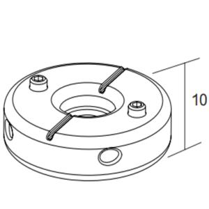 Ecophon 1-Punkt-Deckenbefestiger Montagezubehör (39x39x10)
