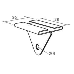 Ecophon Connect Baffel-Clip Montagezubehör (38x26)