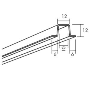 Ecophon Connect Baffel Profil Montagezubehör (2400x24x12)
