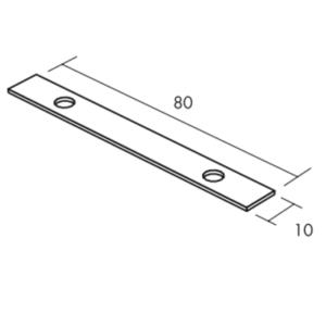 Ecophon Connect Profil-Verbinder Montagezubehör (80x10)
