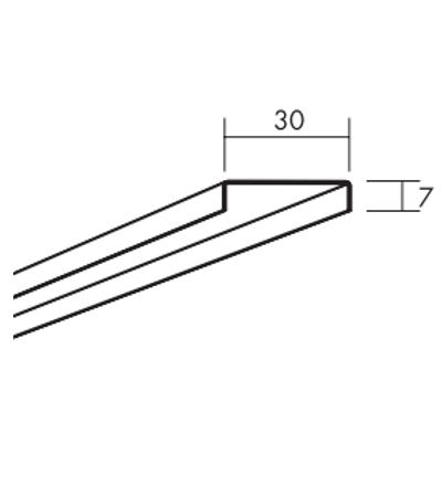 Ecophon Connect WP Distanzprofil Montagezubehör (2400x30x7)