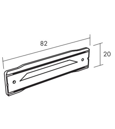 Ecophon Connect WP-ProfilVerbinder Montagezubehör (82x20)
