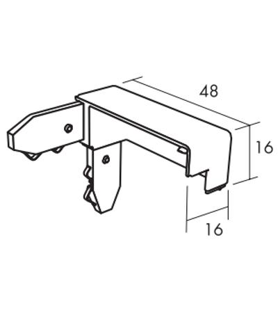 wandabsorber rahmen connect thinline-aussenecke skizze