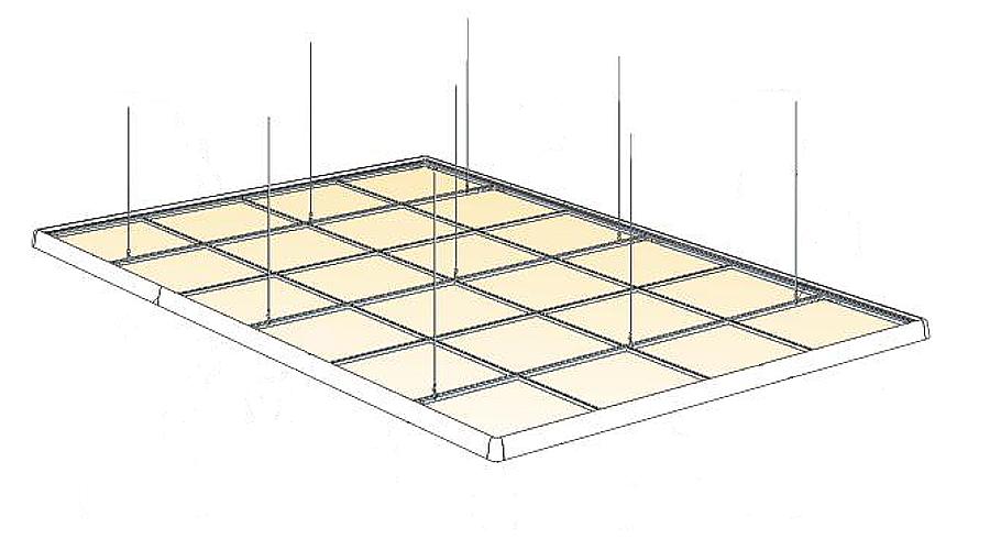 Einlegemontage Unterkonstruktion Akustikdecke