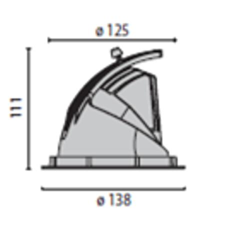 LED Einbaustrahler für Deckensegel und Akustikdecken Skizze