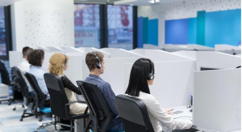 Schallschutz am Callcenter Arbeitsplatz